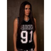 GREAT I AM MUJER CAMISETA BASKET QUEEN 91
