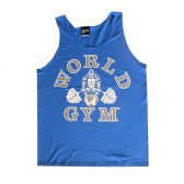 CAMISETA WORLD GYM TIRANTES AZUL