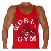 CAMISETA WORLD GYM TIRANTES ROJA