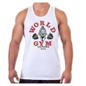 CAMISETA WORLD GYM TIRANTES BLANCA
